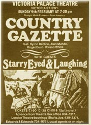 Victoria Palace Poster - Starry Eyed & Laughing\Country Gazette