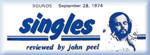 John Peel Singles Review Header in Sounds