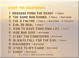 The SUN:Start The Countdown Track List